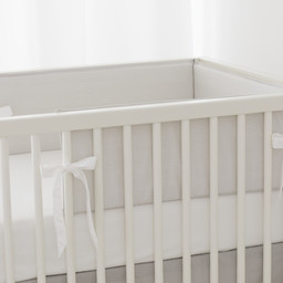 Bouton Jaune Bouton Jaune - Bed Half Bumper, Liberté, Grey Stripe