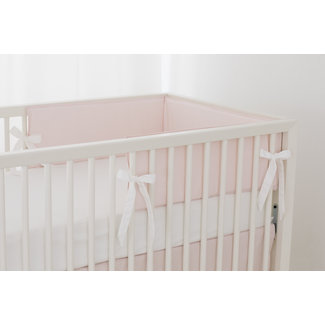 Bouton Jaune Bouton Jaune - Bed Half Bumper, Liberté, Pink Stripe