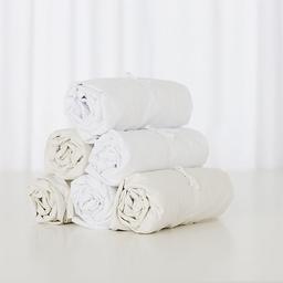 Bouton Jaune Bouton Jaune - Cotton Fitted Sheet, Cream