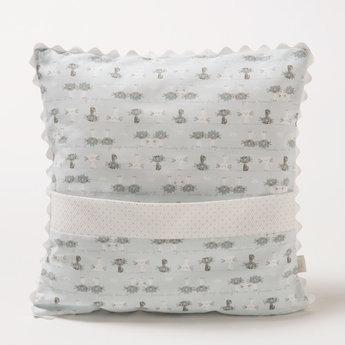 Bouton Jaune Bouton Jaune - 12x12 Pillow with Pocket, Trois Petits Pois, Cats