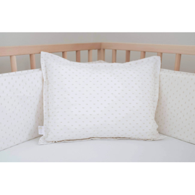 Bouton Jaune Bouton Jaune - Cover Pillow 12x16 Inches, Bout de Ficelle, White