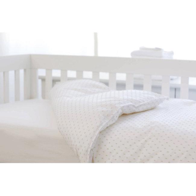 Bouton Jaune Bouton Jaune - Crib Duvet Cover, Bout de Ficelle, White