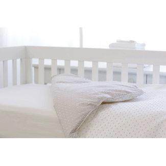 Bouton Jaune Bouton Jaune - Crib Duvet Cover, Bout de Ficelle, Moka and White