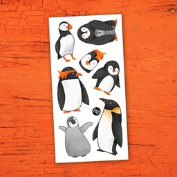 Pico Tatouages Temporaires Pico Tatoo - Temporary Tattoos, The Charming Penguins
