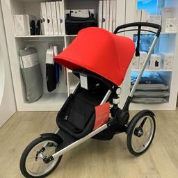 Bugaboo DEMO SALE - Bugaboo Runner - Stroller, Cameleon3 Seat/Red Canopy