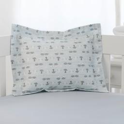 Bouton Jaune Bouton Jaune - Cache-Oreiller 10x13 Pouces, Trois Petits Pois, Chats Bleus