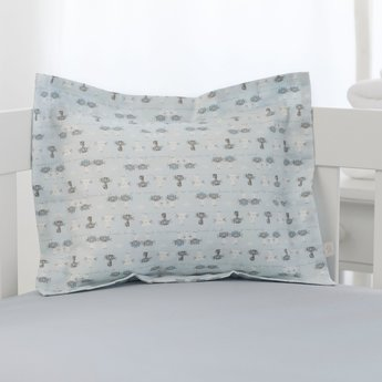 Bouton Jaune Bouton Jaune - Cache-Oreiller 10x13 Pouces, Trois Petits Pois/Trois Petits Pois 10x13 Inches Pillow Cover, Chats Bleus/Blue Cats