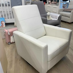Dutailier DEMO SALE - Dutailier Alsace - Swivel Chair, White Leather