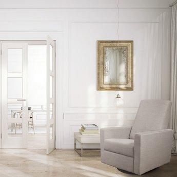 Dutailier DEMO SALE - Dutailier Alsace - Swivel Chair, White Leather