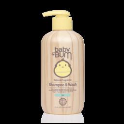 SunBum SunBum - Baby Bum - Gel 2-in-1 Shampoo and Wash Natural Fragrance