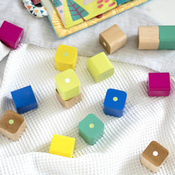 Tegu Tegu - 15 Pieces Magnetic Wooden Blocs, Baby's First Blocks
