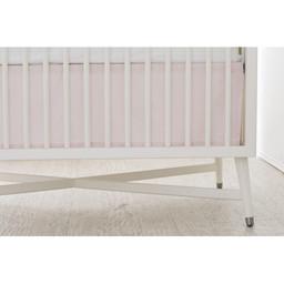 Bouton Jaune Bouton Jaune - Jupe de Lit/Bedskirt, Liberté, Rayé Rose/Pink Stripe