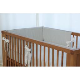 Bouton Jaune Bouton Jaune - Bed Half Bumper, Mon Petit Prince, Small Stripe
