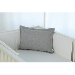 Bouton Jaune Bouton Jaune - 12x16 Inches Woolen Pillow Cover, Grey Leaf Herringbone