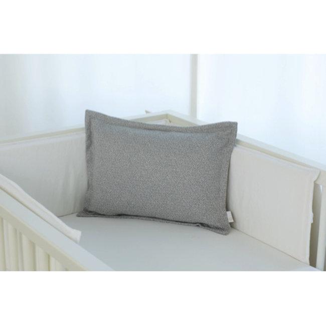 Bouton Jaune Bouton Jaune - 12x16 Inches Woolen Pillow Cover, Grey Leaf Herringbone