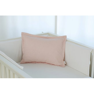 Bouton Jaune Bouton Jaune - 12x16 Inches Woolen Pillow Cover, Pink Leaf Herringbone
