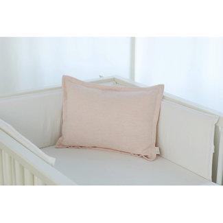 Bouton Jaune Bouton Jaune - 12x16 Inches Woolen Pillow Cover, Pink Herringbone