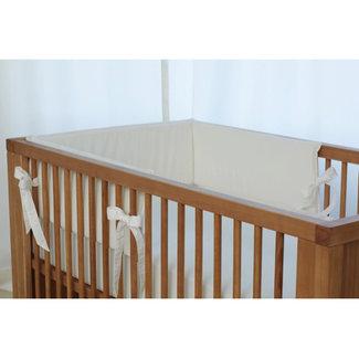 Bouton Jaune Bouton Jaune - Bed Half Bumper, Linen and Cotton