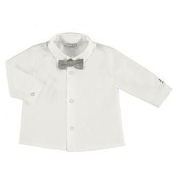 Mayoral Mayoral - Bow Tie Shirt, Ecru