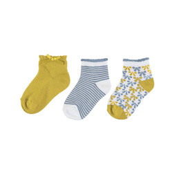 Mayoral Mayoral - Pack of 3 Pairs of Socks, Yellow