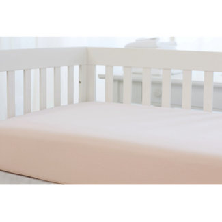 Bouton Jaune Bouton Jaune - Organic Cotton Fitted Sheet, Vintage Pink