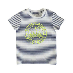 Mayoral Mayoral - Striped T-Shirt, White