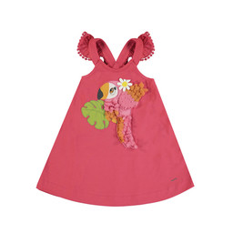 Mayoral Mayoral - Embroidered Dress, Watermelon