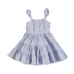Mayoral Mayoral - Daisies Stripes Dress, Blue Lavender