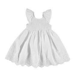 Mayoral Mayoral - Embroidery Dress, White