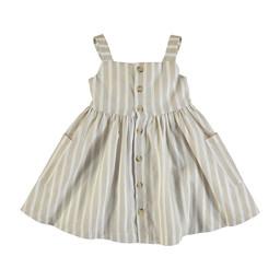 Mayoral Mayoral - Striped Linen Dress, Sand