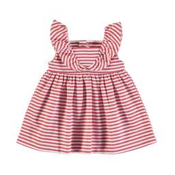 Mayoral Mayoral - Striped Dress, Watermelon