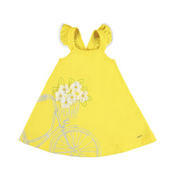 Mayoral Mayoral - Embroidered Bike Dress, Yellow