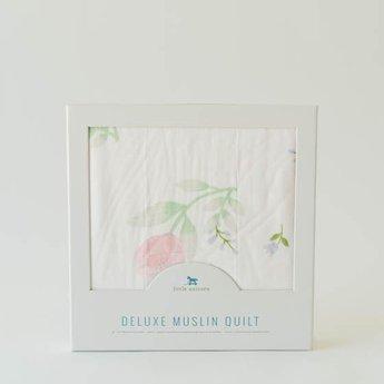Little Unicorn Little Unicorn - Deluxe Bamboo Muslin Quilt, Pink Peony