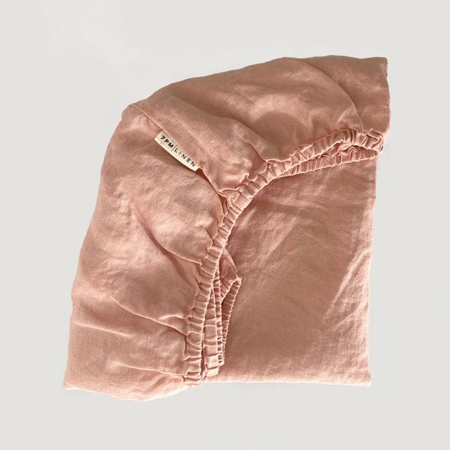 7PM Linen 7PM Linen - Linen Fitted Sheet, Silk