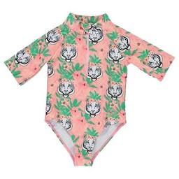 Birdz Children & Co Birdz - Miss Surfer Bathing Suit, Flamingo Flower Tiger