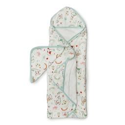 Loulou Lollipop Loulou Lollipop - Bamboo Muslin Hooded Towel and Washcloth Set, Llama
