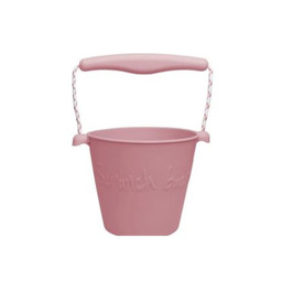 Scrunch Bucket Scrunch Bucket  - Silicone Bucket with Spade, Dusty Rose