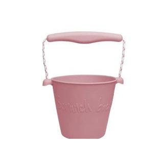 Scrunch Bucket Scrunch Bucket  - Silicone Bucket with Spade, Dusty Rose