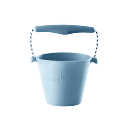 Scrunch Bucket Scrunch Bucket  - Silicone Bucket with Spade, Duck Egg Blue