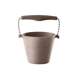 Scrunch Bucket Scrunch Bucket  - Silicone Bucket with Spade, Warm Grey