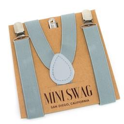 Mini Swag Mini Swag - Solid Color Suspenders, Grey