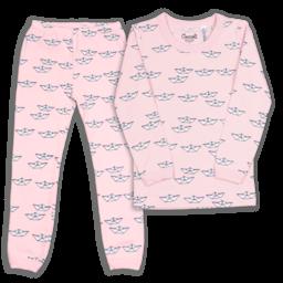 Coccoli Coccoli - Pyjama 2 Pièces, Bateaux Roses