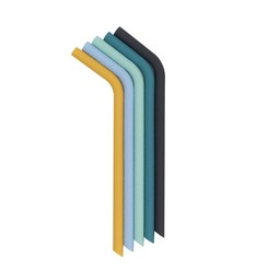 We might be tiny We Might Be Tiny - Pack of 5 Reusable Silicone Straws, Sun and Sky