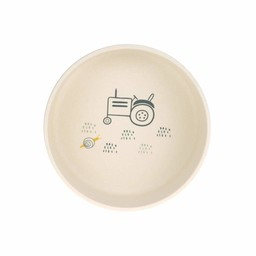 Lässig Lässig - Bamboo Bowl for Baby, Tractor