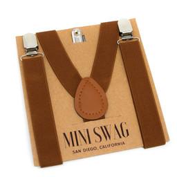 Mini Swag Mini Swag - Solid Color Suspenders, Coffee Brown