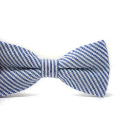 Mini Swag Mini Swag - Adjustable Bow Tie, Navy Seersucker