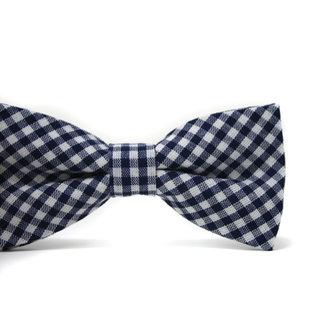 Mini Swag Mini Swag - Adjustable Bow Tie, Navy Gingham