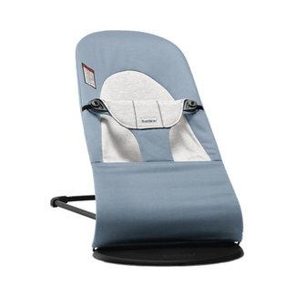 BabyBjörn BabyBjörn - Bouncer Balance Soft, Cotton/Jersey Blue and Grey