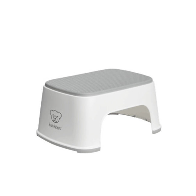 BabyBjörn BabyBjörn - Step Stool, White amd Grey