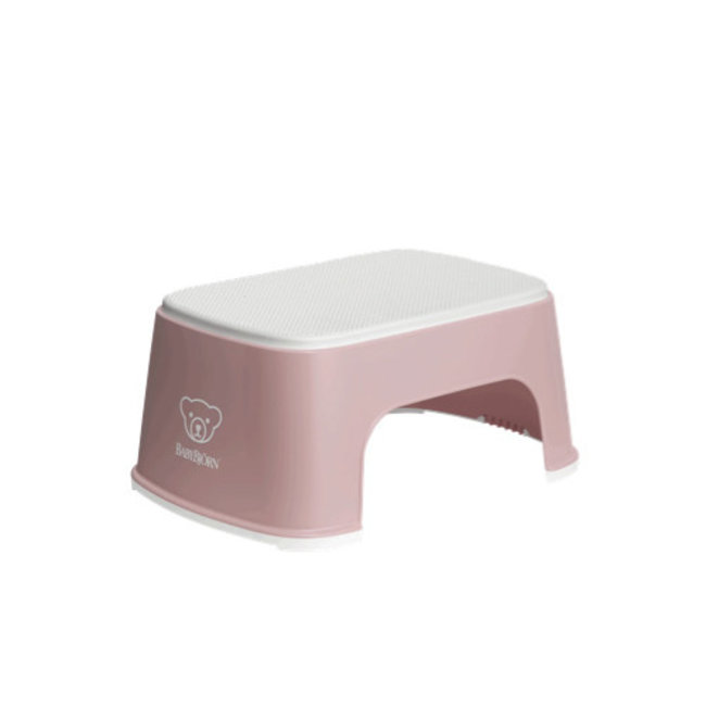 BabyBjörn BabyBjörn - Step Stool, Pastel Pink and White